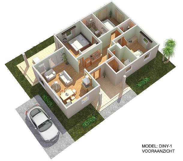 3D Plattegrond van uw toekomstig huis: snel, kwalitatief, betaalbaar.